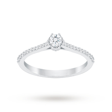 Jenny Packham Platinum 0.33 Carat Diamond 6 Claw Single Stone Ring