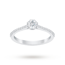 Jenny Packham Platinum 0.50 Carat Diamond 8 Claw Single Stone Ring