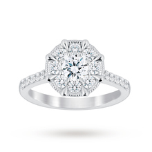 Jenny Packham Platinum 1.00 Carat Diamond 8 Claw Multi Stone Ring