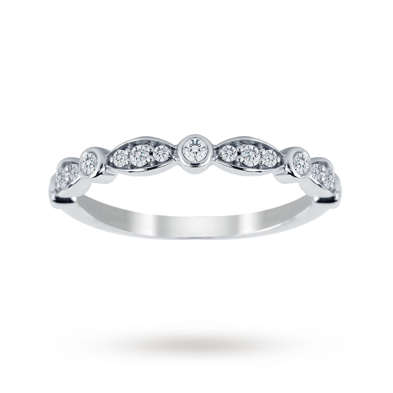 Jenny Packham 18ct White Gold 0.20cttw Band Ring