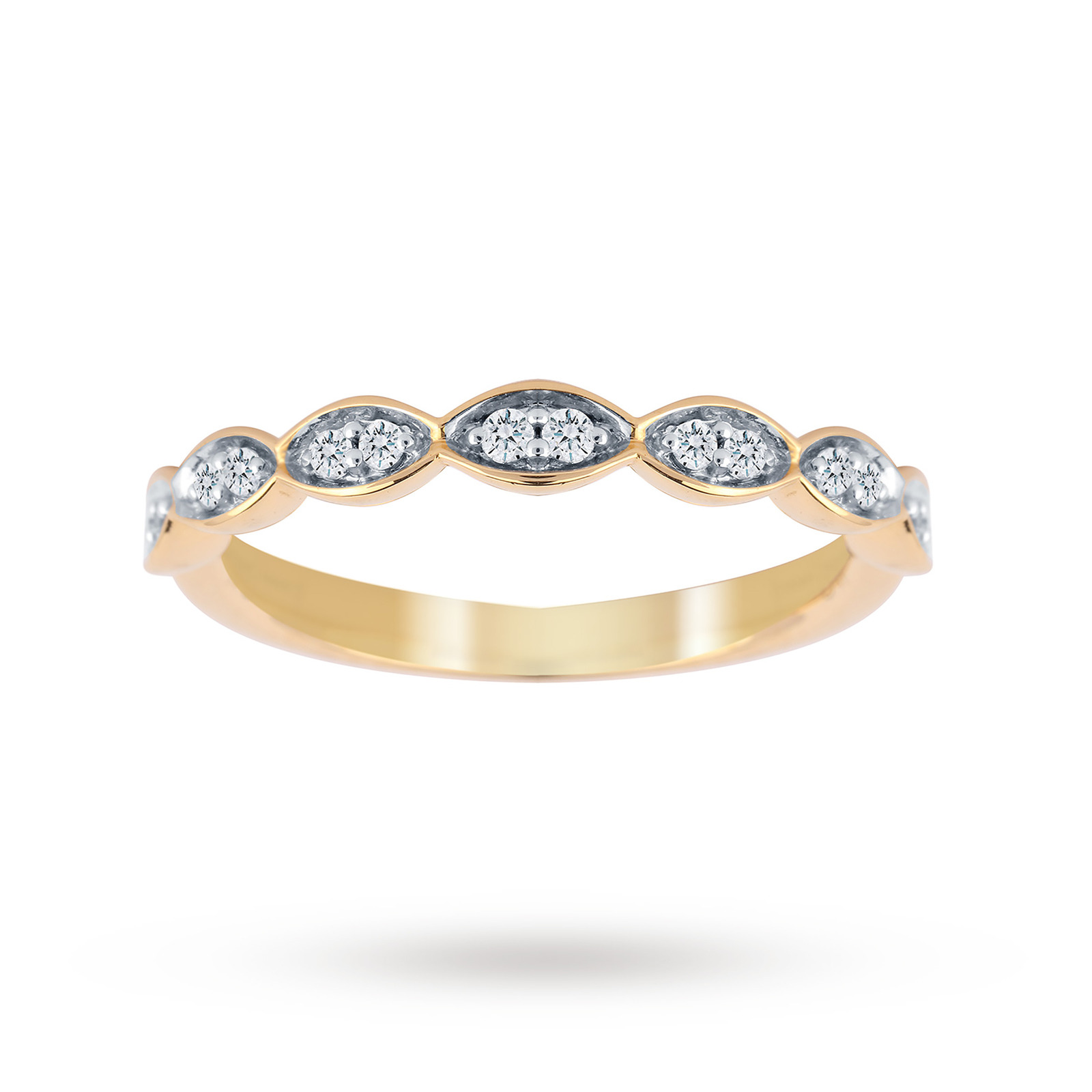 Jenny Packham 18ct Yellow Gold 0.14cttw Band Ring