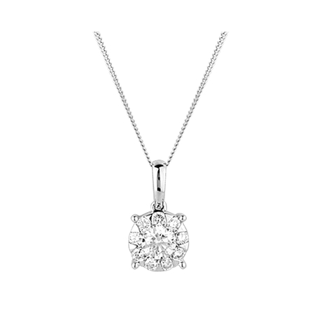 For Her - Mappin & Webb Masquerade 0.50ct Diamond Pendant - 37460090