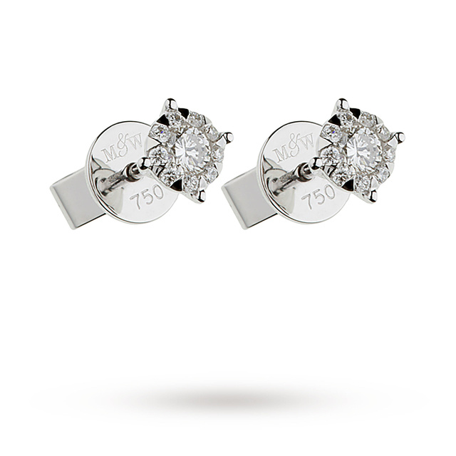 Mappin & Webb Masquerade 0.34ct Diamond Stud Earrings