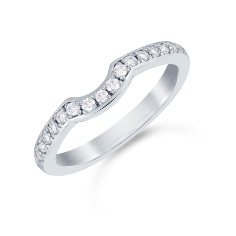 Platinum 0.22cttw Diamond Boscobel Wedding Ring