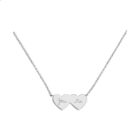 Merci Maman You & Me Sterling Silver Necklace