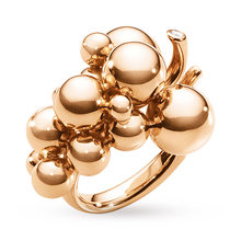 Georg Jensen Moonlight Grape Ring in 18 Carat Rose Gold