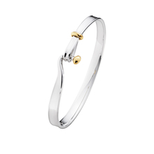 Georg Jensen Silver/18ct Yellow Gold Torun Bangle Size Large