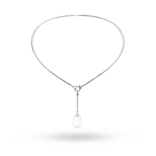 Georg Jensen Vivianna Dew Drop 0.07ct Diamond Silver Pendant