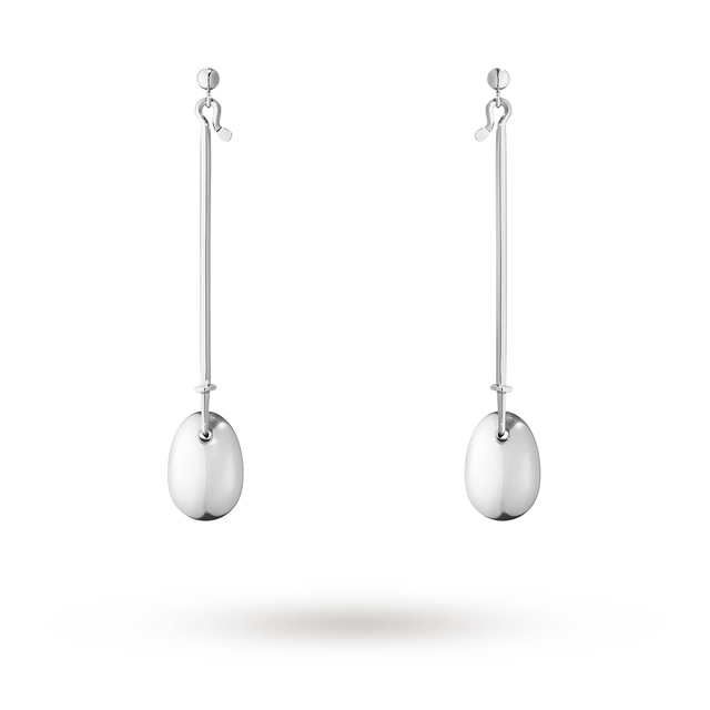 Georg Jensen Vivianna Dew Drop Silver Drop Earrings