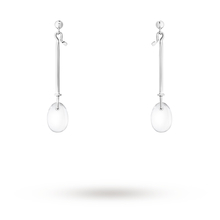Georg Jensen Vivianna Dew Drop rock crystal Drop Earrings