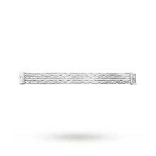Georg Jensen Aria Silver Cube Layered bar Bracelet