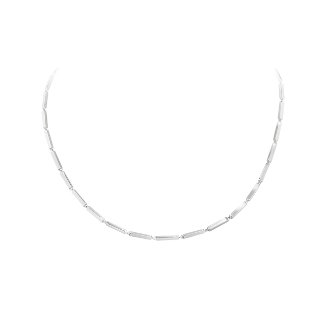 Georg Jensen Aria Silver Single Strand Layered Bar Necklace