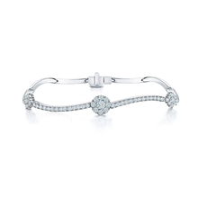 Birks Snowflake Curved 0.89ct Diamond Bracelet