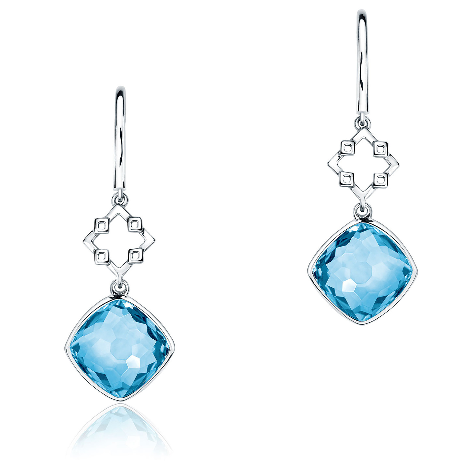 Birks Muse Blue Topaz Drop Earrings