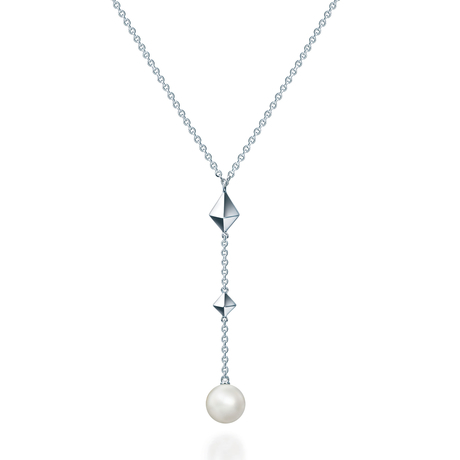 Birks Rock & Pearl Drop Necklace with Pearl