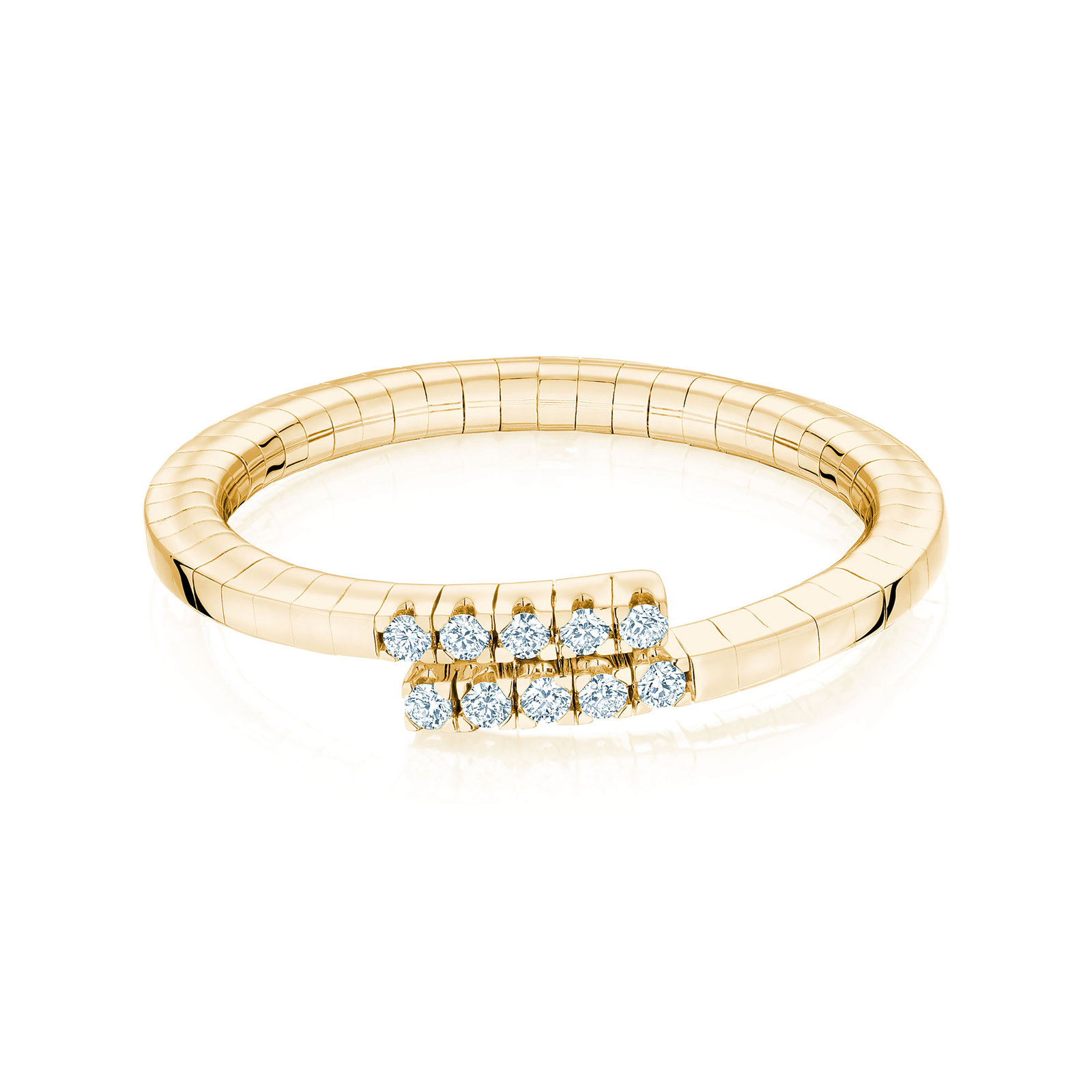 Birks Rosée du Matin Yellow Gold Flex Wrap Ring - Ring Size K