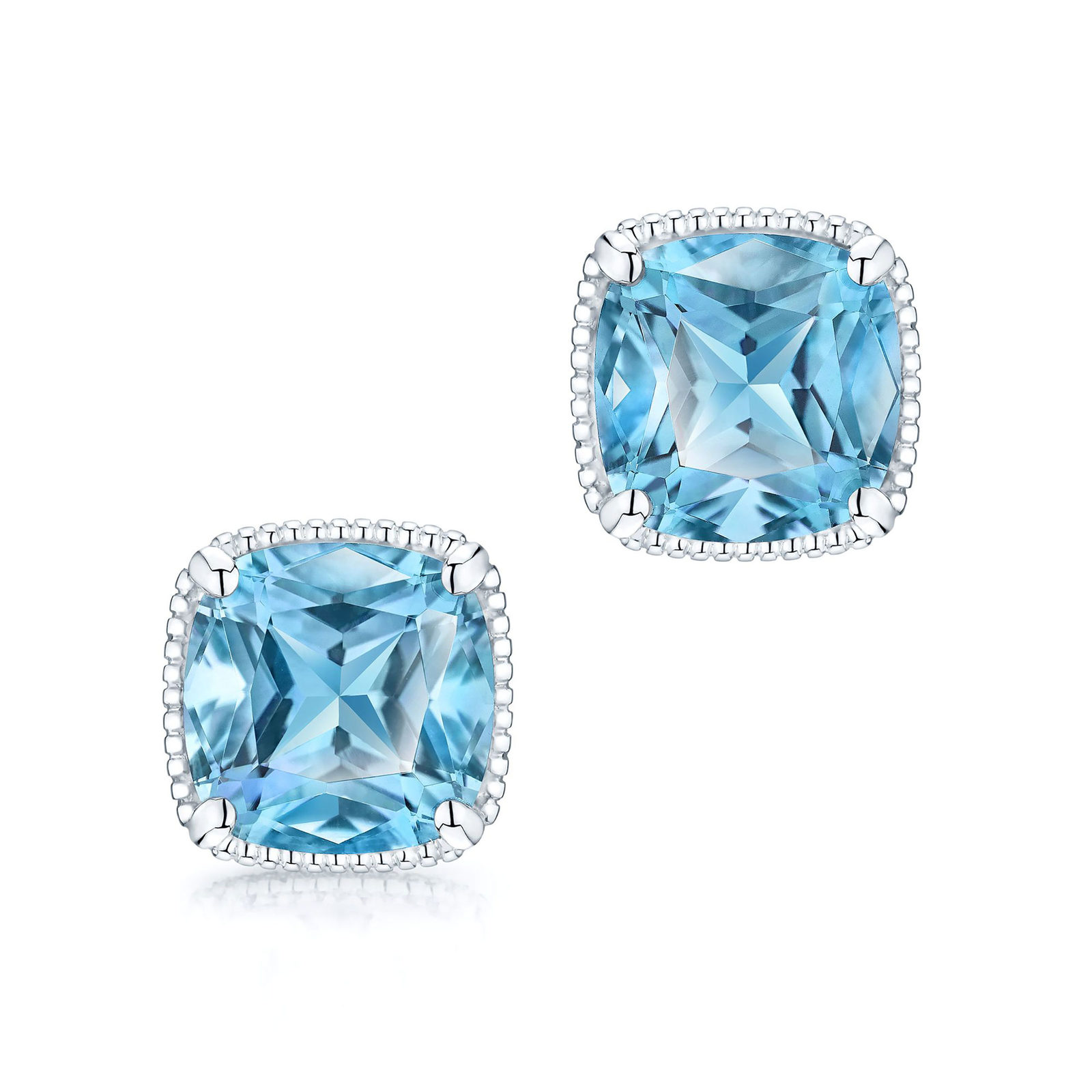 Birks Bee Chic Blue Topaz Silver Stud Earrings