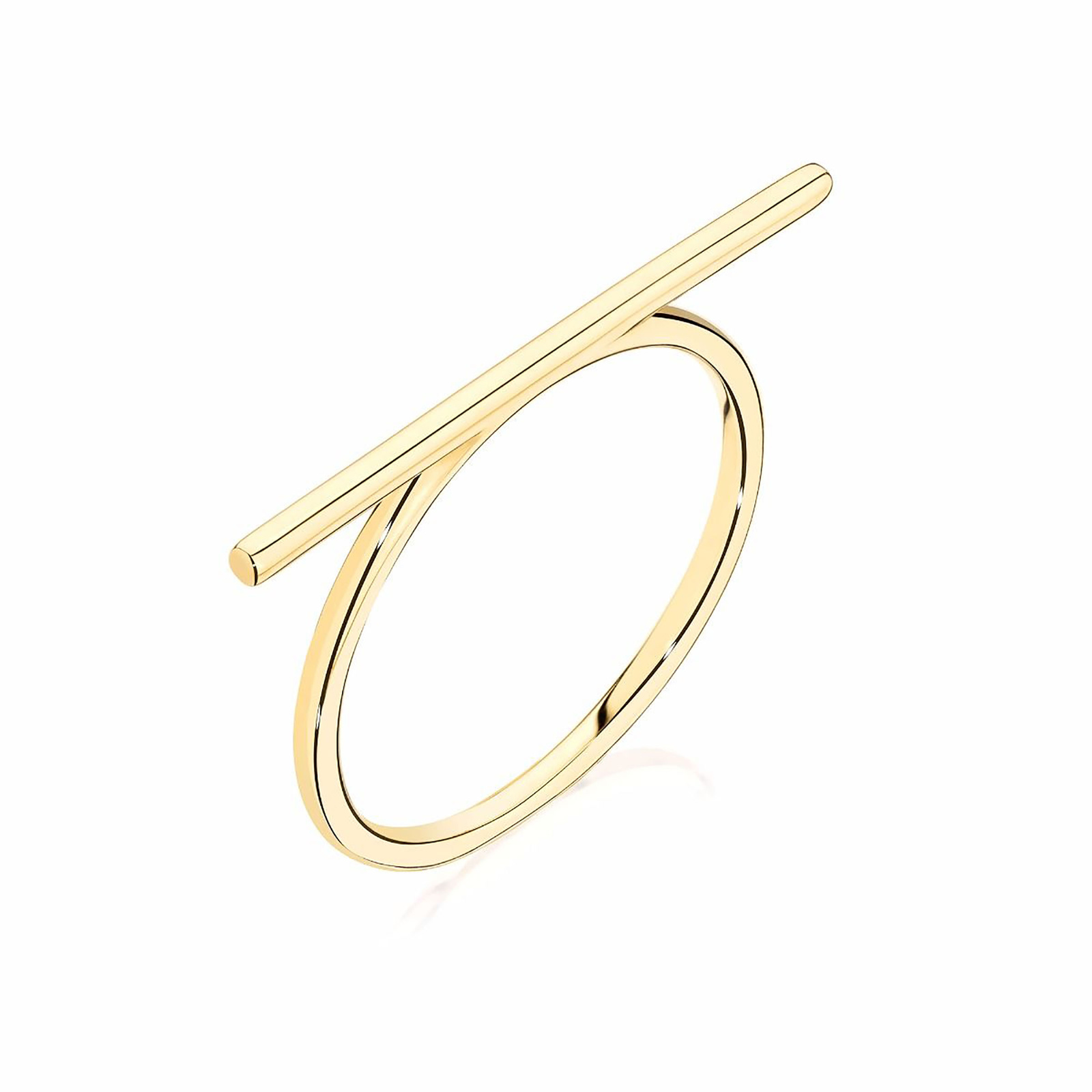 Birks Yellow Gold Bar Ring- Ring Size O