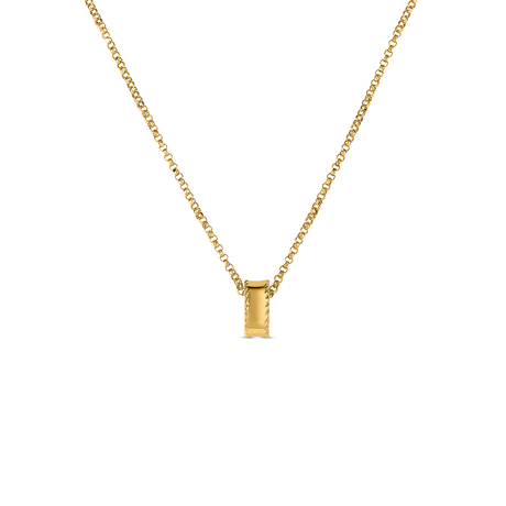 Roberto Coin Symphony 18ct Yellow Gold Plain Bead Pendant
