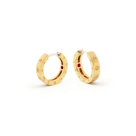 Roberto Coin Symphony 18ct Yellow Gold Hoop Earrings With Round Design