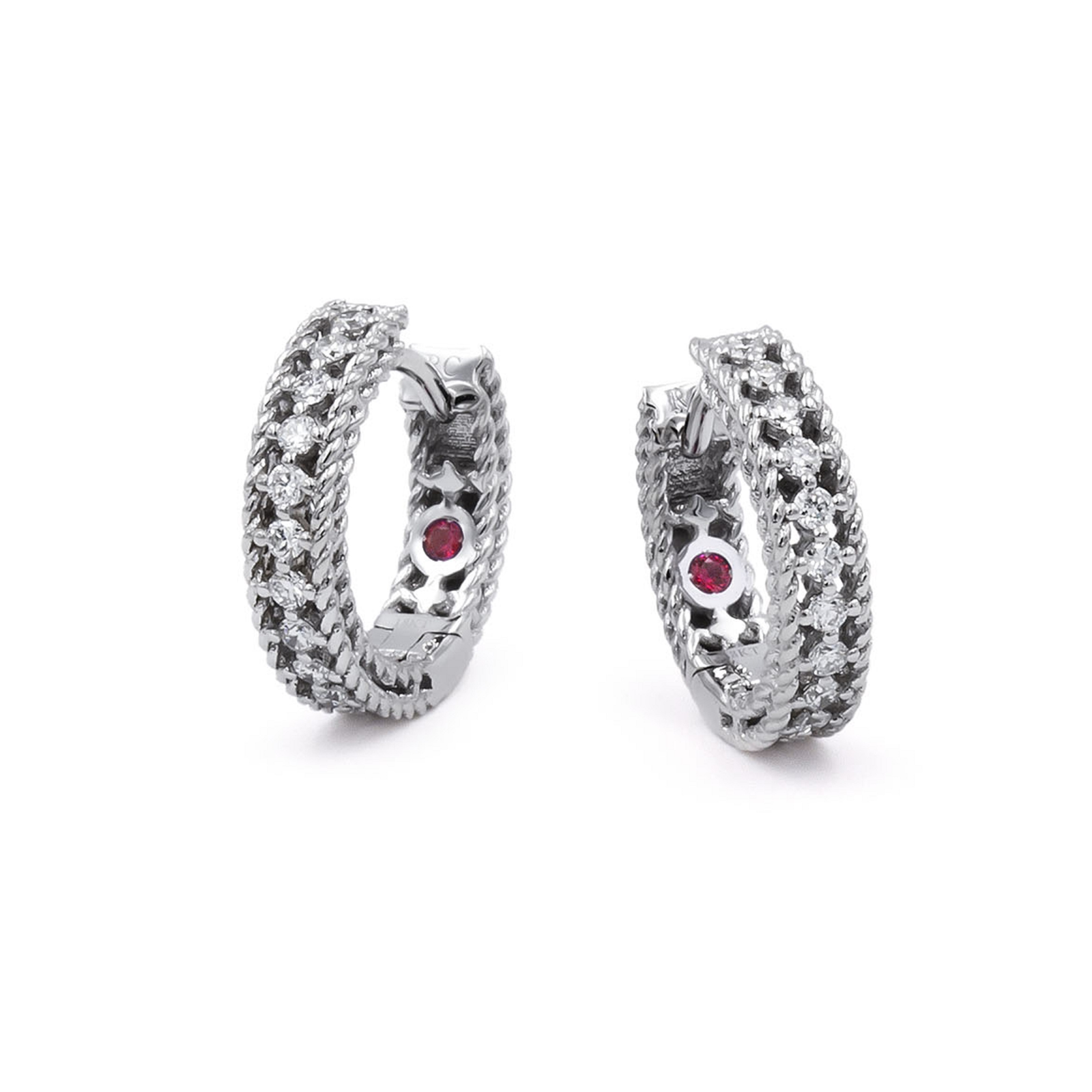 Roberto Coin Symphony 18ct White Gold 0.24ct Diamond Hoop Earrings