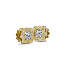 Roberto Coin Pois Moi 18ct Yellow And White Gold 0.248ct Diamond Stud Earrings