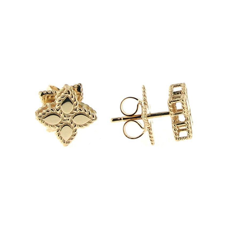 Roberto Coin Princess Flower 18ct Yellow Gold Stud Earrings
