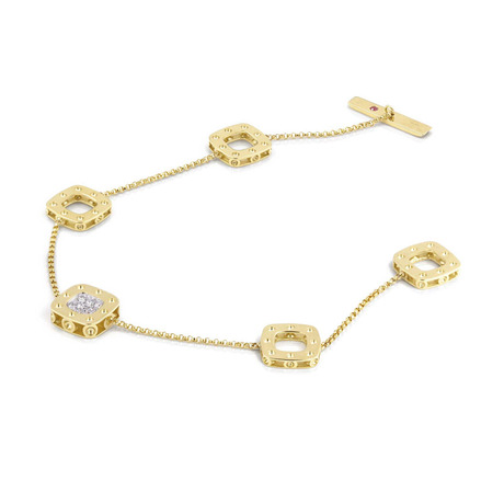 Roberto Coin Pois Moi 18ct Yellow And White Gold 0.124ct Diamond Bracelets