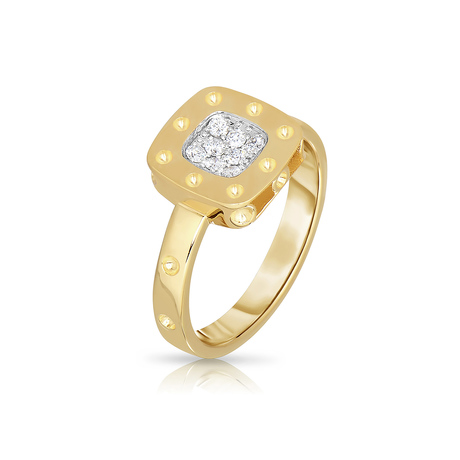 Roberto Coin Pois Moi 18ct Gold 0.12ct Ring - Ring Size M