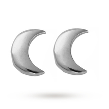 ChloBo Silver Luna Soul Moon Stud Earrings