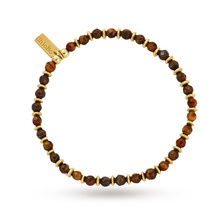 ChloBo Mens Tigers Eye Mini Disc Bracelet