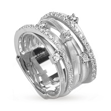 Marco Bicego Goa Multi Diamond Ring in 18 Carat White Gold