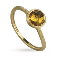 Marco Bicego Jaipur Citrine Bezel Set Ring in 18 Carat Yellow Gold
