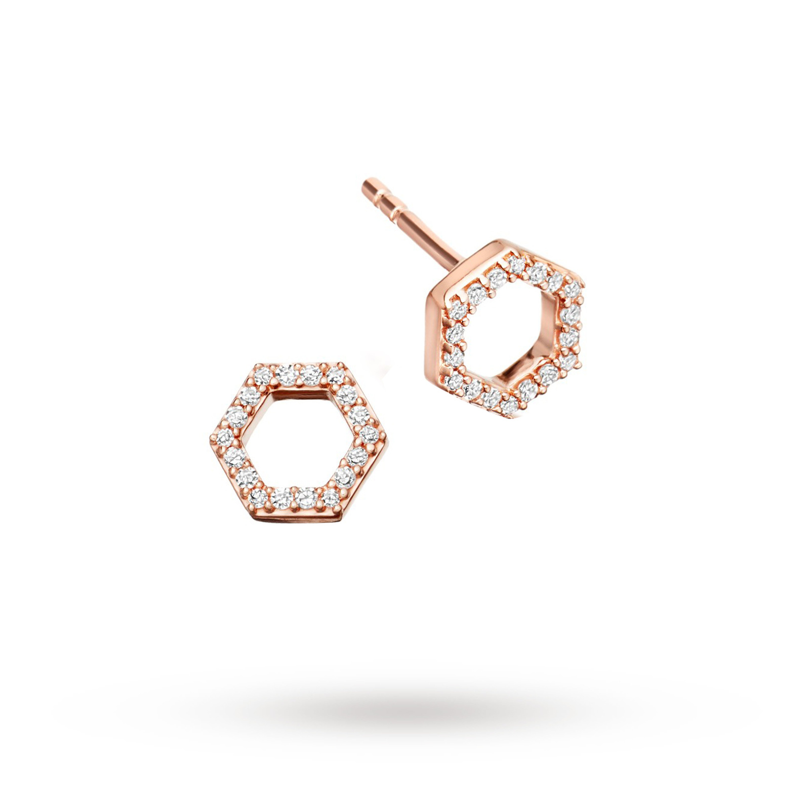 Astley Clarke Honeycomb Stud Earrings
