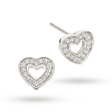 Astley Clarke Mini Heart Biography Stud Earrings