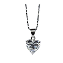 Carat 9ct White Gold Heart Pendant 45cm