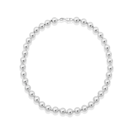 Sonnet Silver 10mm Bead Necklace