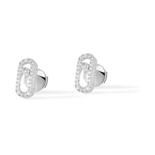 Messika 18ct White Gold Move Classique Diamond Earrings
