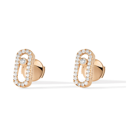 Messika 18ct Rose Gold Move Classique Diamond Earrings