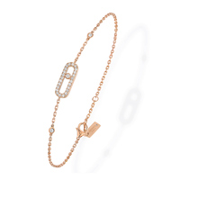Messika 18ct Rose Gold Move Classique Uno Pave Bracelet