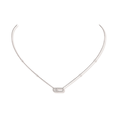 Messika 18ct White Gold Move Classique Uno Necklace
