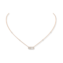 Messika 18ct Rose Gold Move Classique Uno Necklace