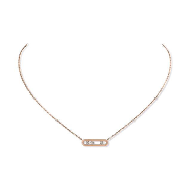 Messkia 18ct Rose Gold Move Classique Diamond Necklace
