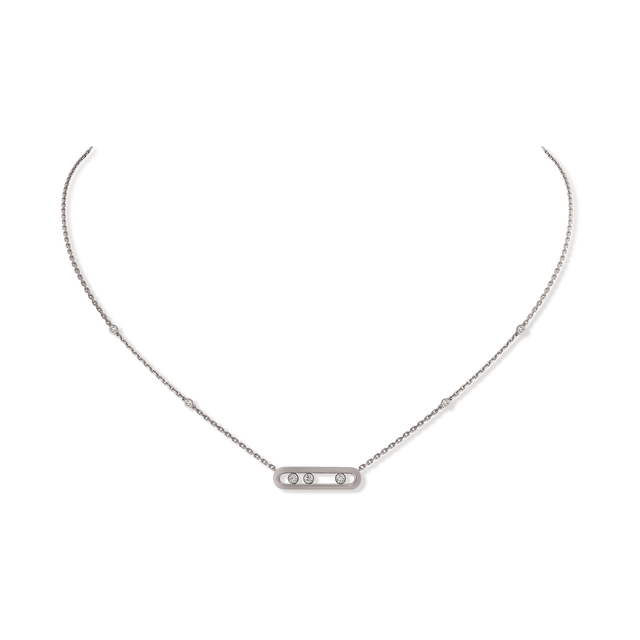 Messkia 18ct White Gold Move Classique Diamond Necklace