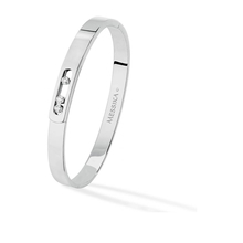 Messika 18ct White Gold Move Joaillerie Diamond Bangle