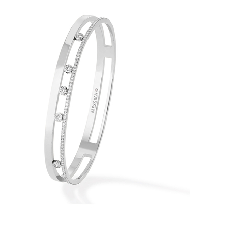 Messika 18ct White Gold Move Joaillerie 0.70ct Diamond Bangle