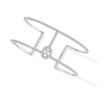 Messika 18ct White Gold Glam'Azone 1.60ct Diamond Cuff