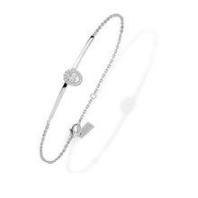 Messika 18ct White Gold Glam'Azone Diamond Bracelet