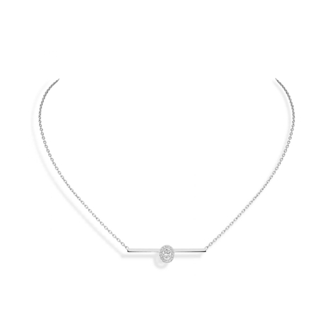 Messika 18ct White Gold Glam'Azone Diamond Necklace