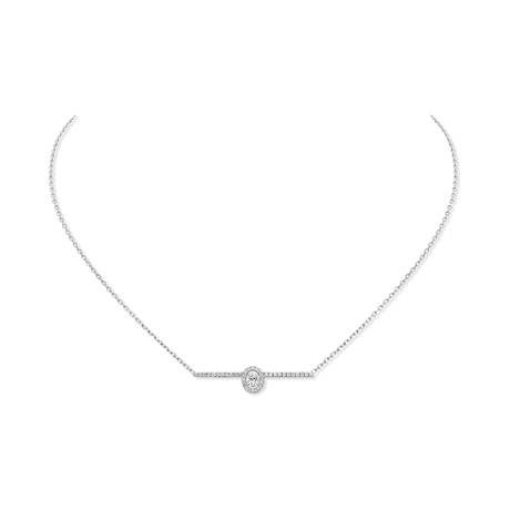 Messika 18ct White Gold Glam'Azone Pave Diamond Necklace